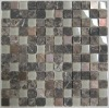 Dark Emperador mix Glass Copper Mosaic Tiles