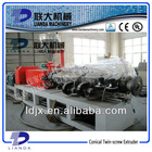High Output and High Efficiency Conical Double-Screw Extruder Machine Manufacture