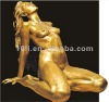 Bronze nude women statue