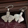 natural ginko leaf jewelry earrings