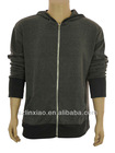hoody jacket for men zip -up pure cotton gray color