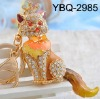 fashion key chain and bag charm,real gold plating,can change to pendant also