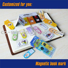Customized magnetic book mark