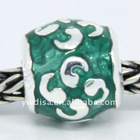 2012 Wholesale Sterling Silver Enamel Beads 925