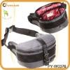 fashion waterproof nylon waist bag with pu trim