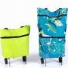 Portable folding shopping trolley cart/bags