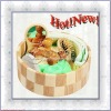 Natural Wooden Romantic cheap Body Bath Set in Green color