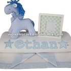XZ-L0950 baby brand security blankets with toy