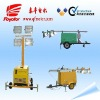 High mast lighting tower with 5kw silent diesel generator