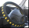 PVC black car 14 inch steering wheel cover for protection