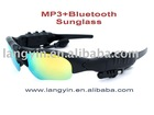 All-in-one function of MP3 player Sunglass with bluetooth and FM Radio