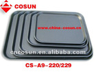 Rectangular plastic serving tray