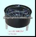 Folding charcoal BBQ grill