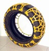 Snow tyre protection chain