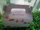 Paper middle size cup cake box priting