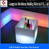 special translucent acrylic LED furniture in the bar