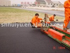 paving machine for 100% polyurethane running track