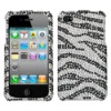 Zebra skin, Puma skin, Leopard skin, Panther skin Rhinestone, Bling, Crystal, Diamond, Diamante Case Shell for iPhone 4