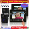 Wholesales 9 inch touch key handsfree LCD color wired video doorbell with LED,connecting DVR