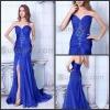 Cheap Blue Front Split Evening Dresses Woman Formal Party Dresses