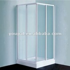 aluminum frame shower cabin , support frame and slider ; perfect aluminum frame; backstop aluminum frame and wall profile