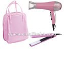 Trvael Hair Styler gift set with hair dryer and hair straightener