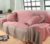 fashion pink sofa cover fabric sofa cover