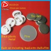Badge Material Factory Direct 25mm badge maerial componets