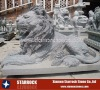 African lion carving stone