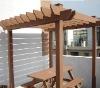 (wpc) wood plastic composite arbour