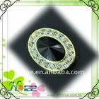Deluxe cone-shape plated plastic rhinestone button