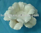 Romantic ceramic white glazed flower candle holder