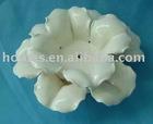 Romantic ceramic white glazed flower candle holder