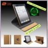 360 degree rotation flip leather case for ipad2 Tablet PC,2012 new design