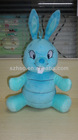 2012 new design blue rabbit toy soft plush stuffed bunny toy