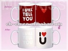 Ceramic Personalized Mugs with Customized Logo color changing mug