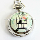 Bird in cage pocket watch