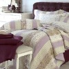 LUXURY Camille Quilted Patchwork Bedspreads Bed Cover Set 100% Cotton Bed sheets