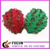 christmas colors feather pad for decoration