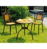 Cast aluminum coffee shop table, hardwood leisure tables and chairs