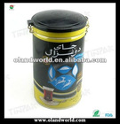 Elegance Metal Round Coffee Hinged Lid Tin Box/ Can/Container