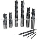 Full range of Carbide End Mills, milling cutters