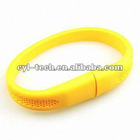 customized logo PVC bracelet USB flash disk