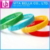 Fashion Debossed Silicone bracelet for promotional