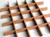 Wood grain aluminum decoractive panel/ grid cell ceiling