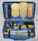 car clean kit with blue tool bag