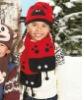 cute children fleece hat scarf set