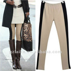 2012 Lady Casual Two-tone patchwork leggings