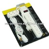 6OUTLET POWER STRIP WITH LIGHTED SWITCH AND SURGE