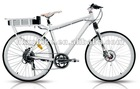 700x23C road racing style lithium battery LCD 5 speed display Alloy Aluminium front fork electric chopper bike